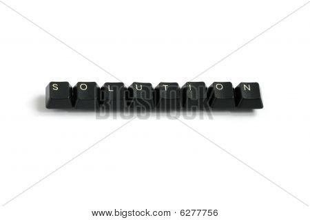 Solution Written With Keyboard Keys