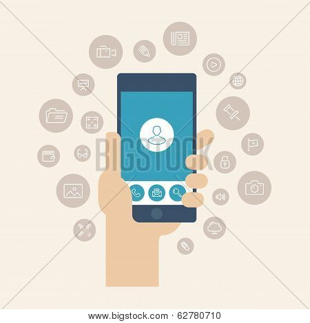 Mobile Apps Flat Illustration