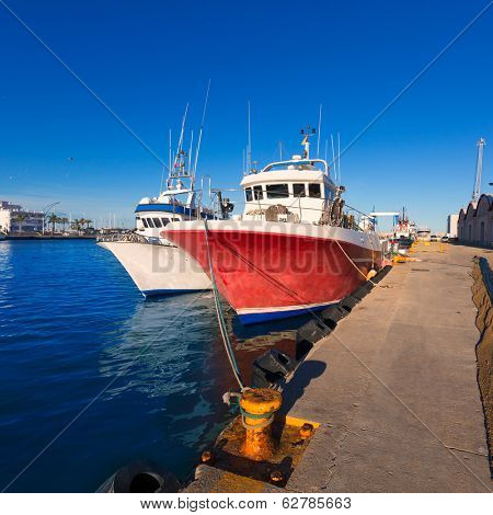Gandia port puerto Valencia in sunset Mediterranean Spain poster