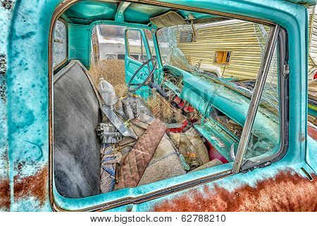 Abandoned Motorvehicles  In A Utah Ghost Town