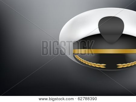 Background of captain peaked cap