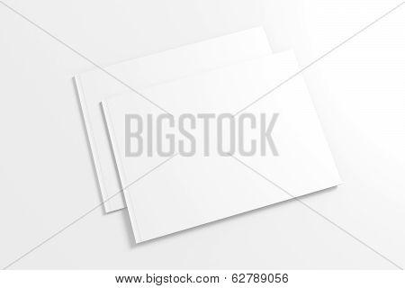 Blank Lanscape Catalog Isolated On White