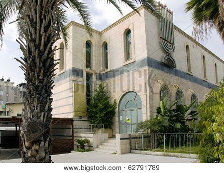 Modern synagogue in Bat Yam
