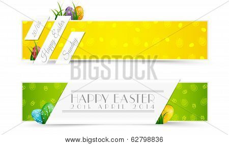 Set Of Easter Holiady Banners