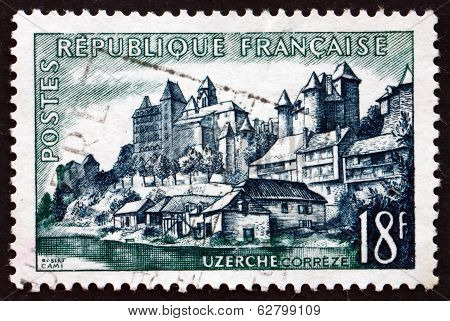 Postage Stamp France 1955 View Of Uzerche