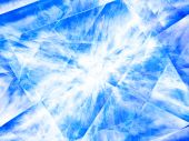 Abstract cool background of blue the ice crystals. poster