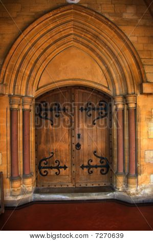 Front door of St George's Church, Nailsworth, Cotswolds