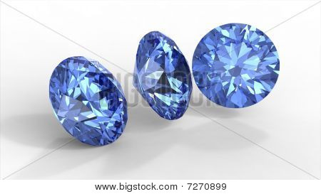 Three Blue Diamonds