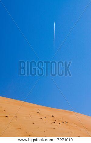 Flug über die Wüste