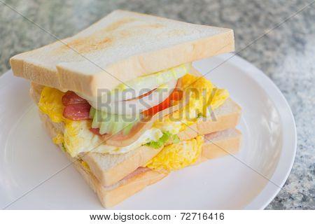 Close up Club Sandwich