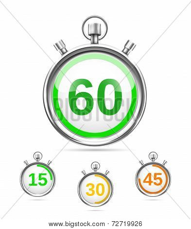 Vector timers or stopwatches