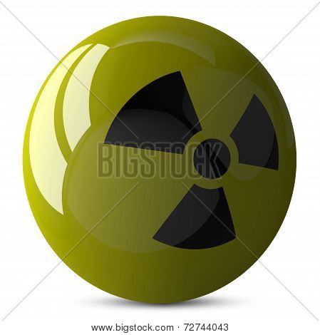 sphere With Radiation Sign Isolated