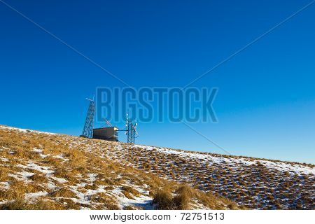 Telecomunication Station On The Top Of The Mountain