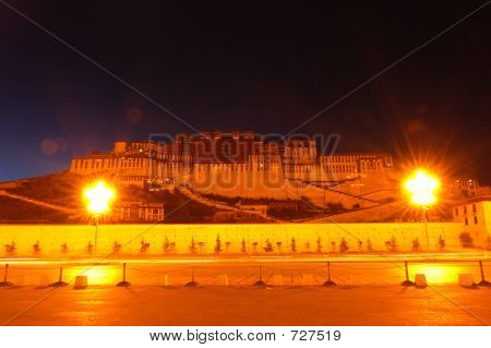Nightview Of Potala Palace