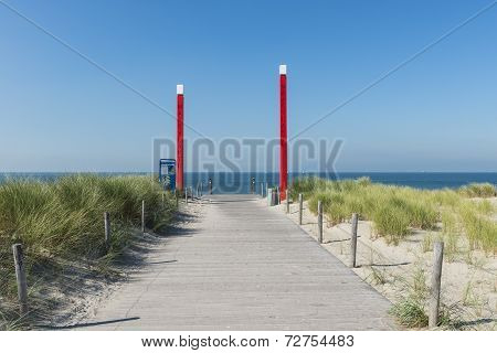 Beach Maasvlakte Entrance