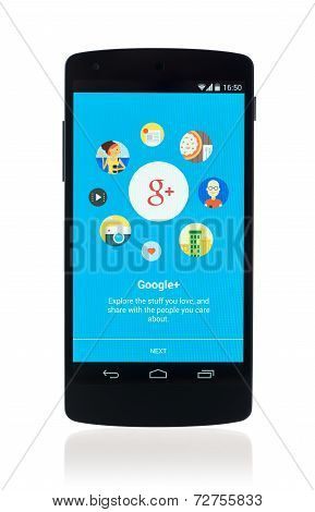 Google Plus App On Google Nexus 5