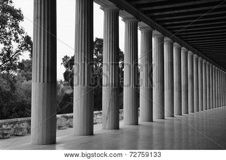 Doric Columns Stoa Attalos