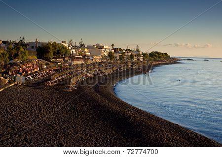 Beach in Kamari.