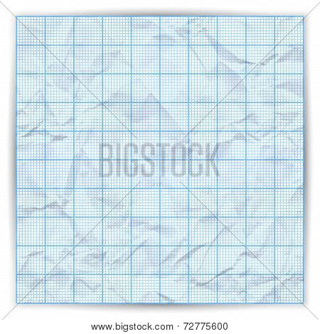 Vector graph grid paper background with variable thickness lines