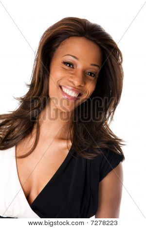 Happy African Female Face