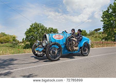 Bugatti T 13 Brescia Corsa (1924) Runs In Mille Miglia 2014