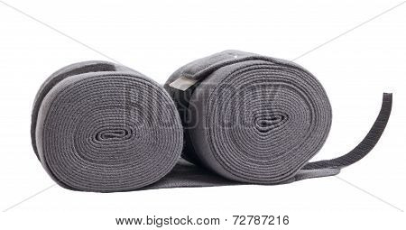 horse new grey knitwear bandages isolated on white poster