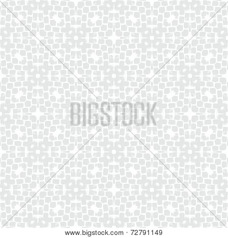 White geometric texture in art deco style for Christmas and holiday decor or wedding invitation background. Seamless vector pattern for winter fashion poster