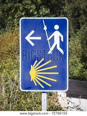 Way of Saint James signpost in Spain poster