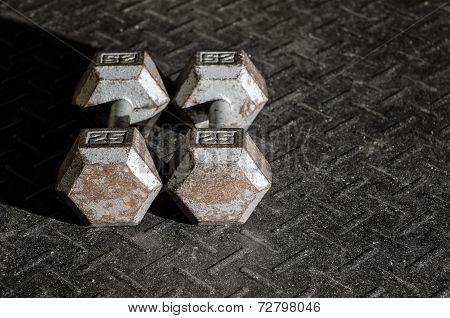 A pair of dumbells