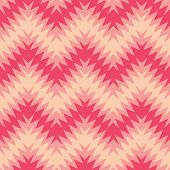 Abstract zigzag seamless pattern in a blend of peach and pink colors. poster