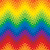 Jagged zigzag seamless pattern in a blend of primary and secondary colors. poster