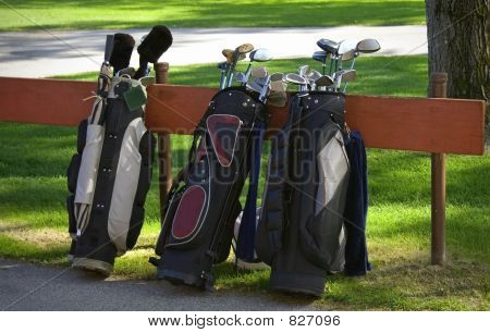 3 Sets Clubs and Bags