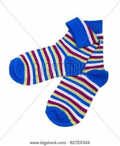 Multicolor Child's Striped Socks
