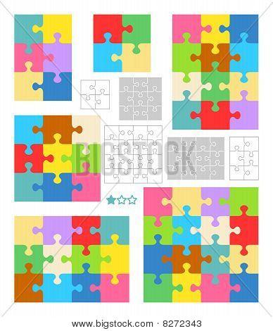 Jigsaw Puzzle leere Vorlagen und bunten Muster