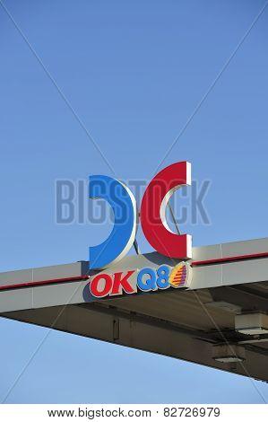 Swedish gas sign