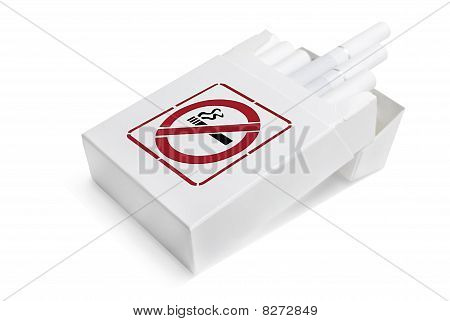 Blank Pack Of Cigarettes | Isolated