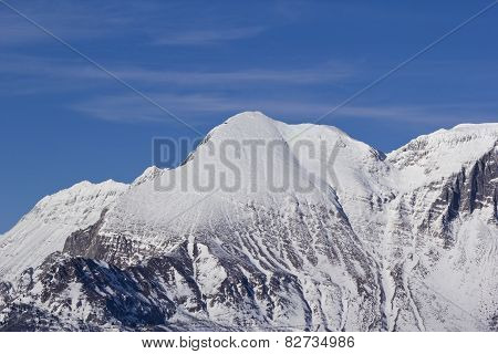 Snow Covered Mountain Krn