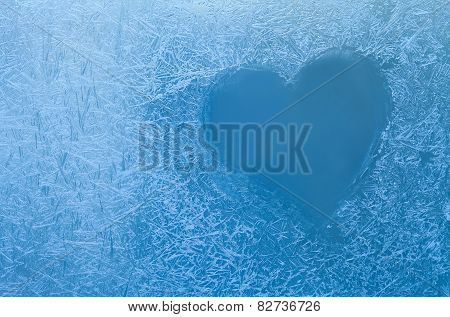 Frozen Heart. Frozen Glass.