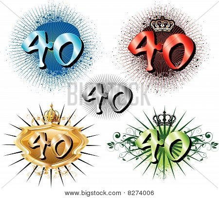 Vector Illustration for Special Birthdays Anniversaries and Occasions. Great for t-shirt or cards. poster