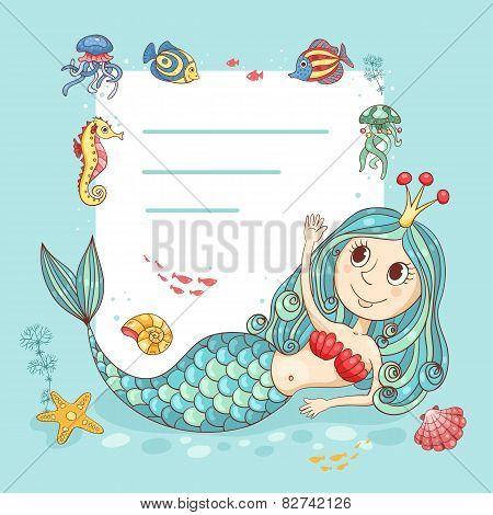 Cutest Card With The Mermaid Princess