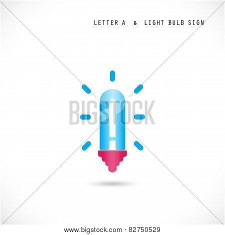 Creative Letter A Icon Abstract  Logo Design Vector Template