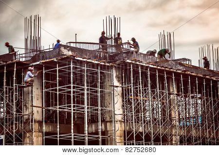 construction worker in Vietnam