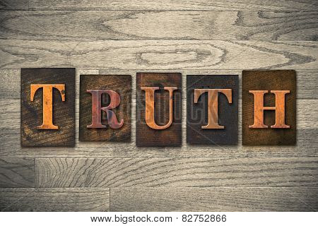 Truth Wooden Letterpress Concept