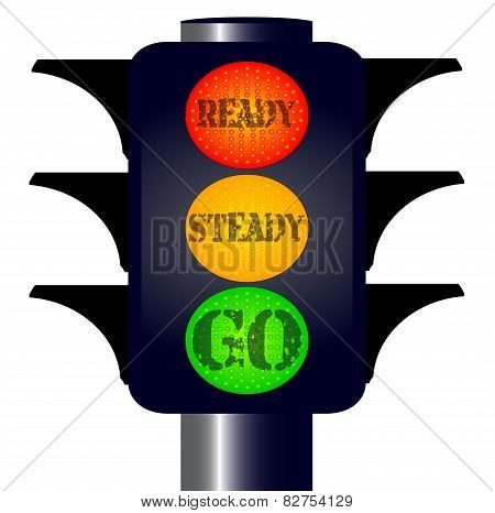 Ready Steady Go Traffic Lights