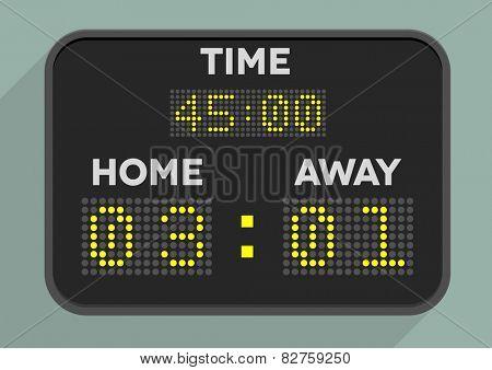 minimalistic illustration of a sports scoreboard, eps10 vector