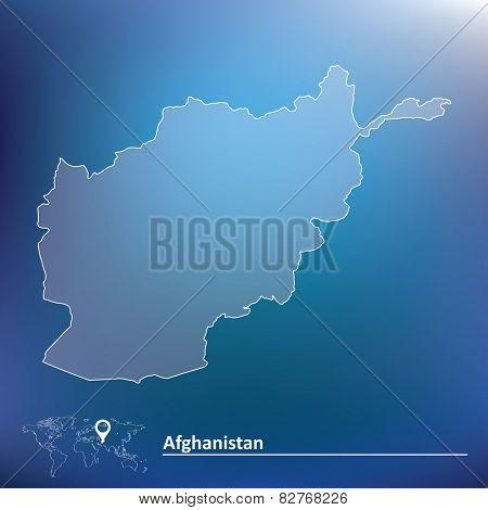 Map of Afghanistan - vector illustration