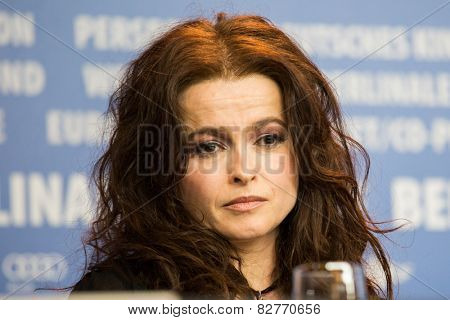 BERLIN, GERMANY - FEBRUARY 13: Helena Bonham Carter, 'Cinderella' press conference, 65th Berlinale International Film Festival at Grand Hyatt Hotel on February 13, 2015 in Berlin, Germany