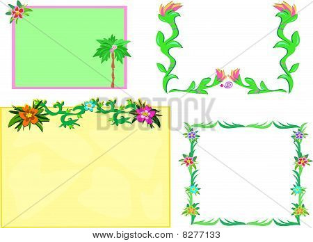 Mix of Tropical Frames with Plants