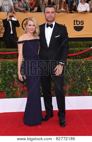 LOS ANGELES - JAN 25:  Naomi Watts & Liev Schreiber arrives to the 21st Annual Screen Actors Guild Awards  on January 25, 2015 in Los Angeles, CA