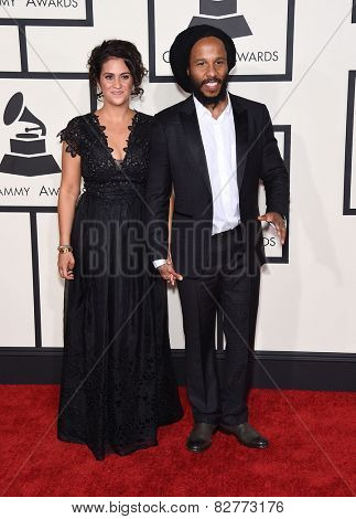 LOS ANGELES - FEB 08:  Ziggy Marley arrives to the Grammy Awards 2015  on February 8, 2015 in Los Angeles, CA